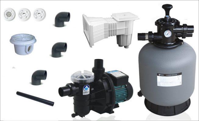 kit filtrare piscine beton